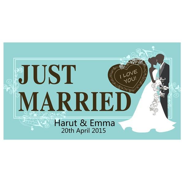 Personalizado Noiva e Noivo Imprensa Board Número da matrícula