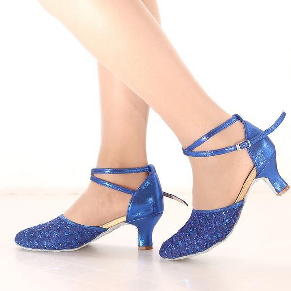 Donna Glitter scintillanti Tacchi Latino Scarpe da ballo