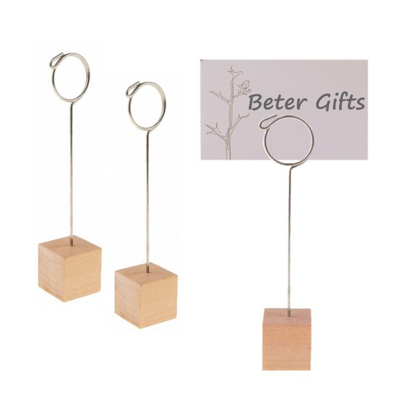 Wooden Place Card Holder Party Decoration (Sold in a single)