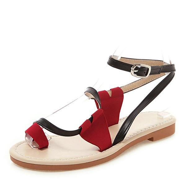 Kvinnor PU Flat Heel Sandaler Platta Skor / Fritidsskor skor