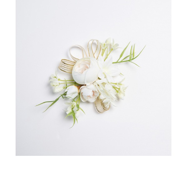 Charming Free-Form Fabric Wrist Corsage (Sold in a single piece) -
