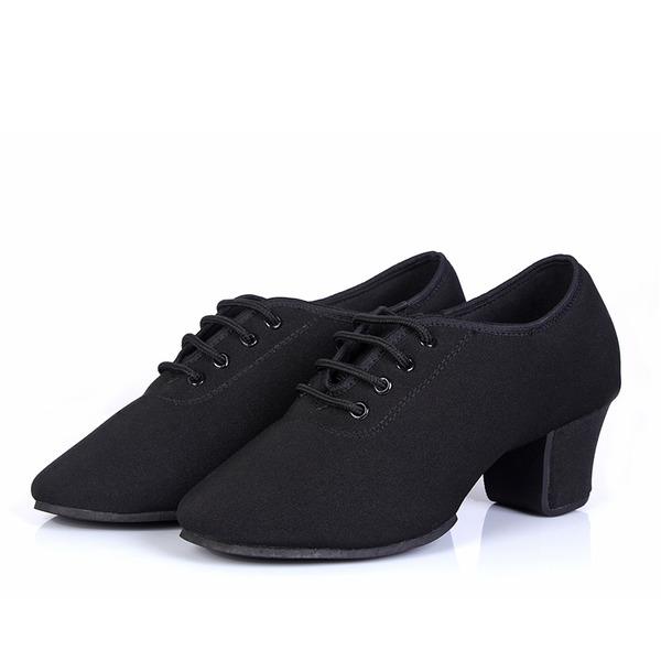 Women's Canvas Heels Practice Dance Shoes