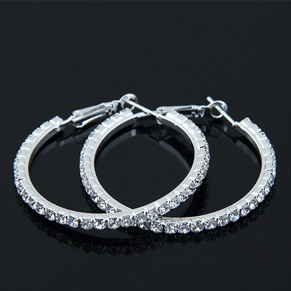 Shining Alloy Rhinestones With Rhinestone Women's Fashion Earrings (Sold in a single piece)