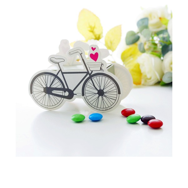 Classic Bicycle Shaped paper Favor Boxes (Set of 12)