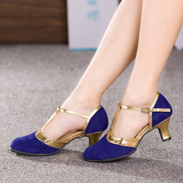 Women's Nubuck Heels Ballroom Dance Shoes