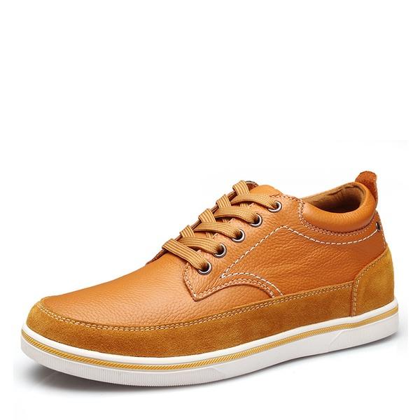 Hombres Piel Cordones Casual Zapatos Oxford de caballero