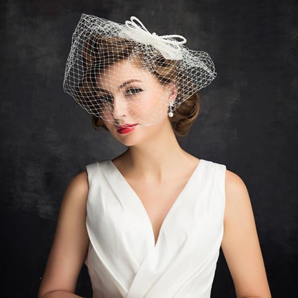 Dames Charme Imitatie Parel/Tule met Imitatie Parel/strik/Tule Fascinators/Kentucky Derby Hats/Theepartij hoeden