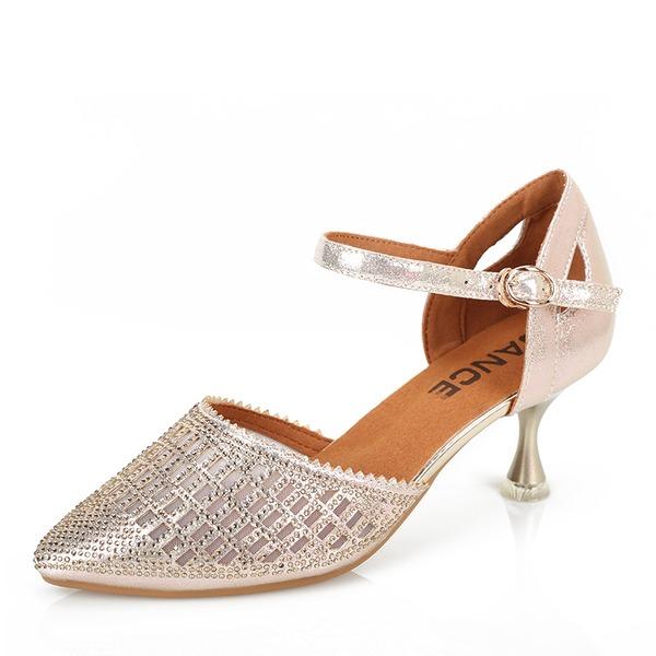 Mulheres Couro Sandálias Balé Latino sapatos de personagem Sapatos de dança