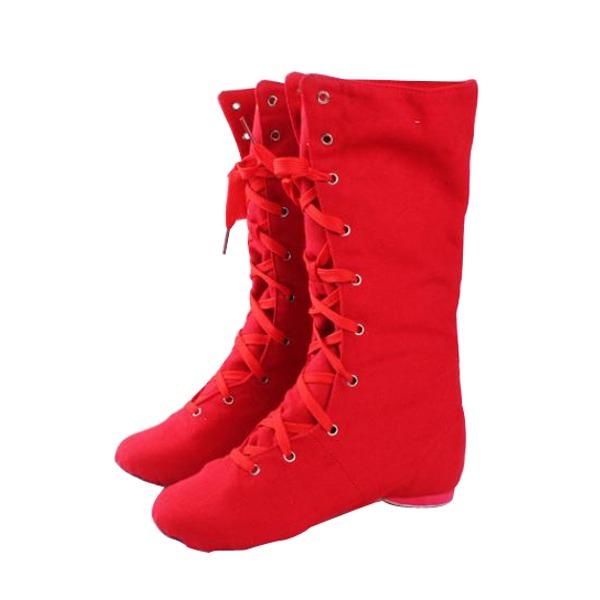 De mujer Lona Botas Jazz Zapatos de danza