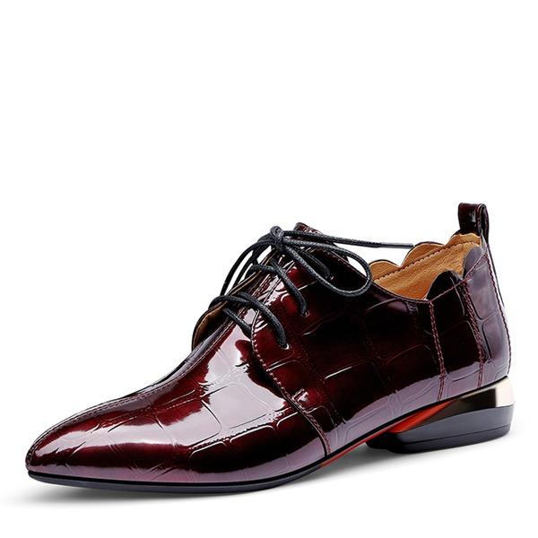 Femmes Cuir verni Talon bas Chaussures plates أحذية