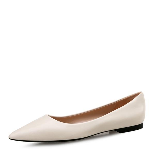 Vrouwen Kunstleer Flat Heel Flats Closed Toe met Anderen Gevlochten Riempje Gesplitste Stof Elastiekje schoenen
