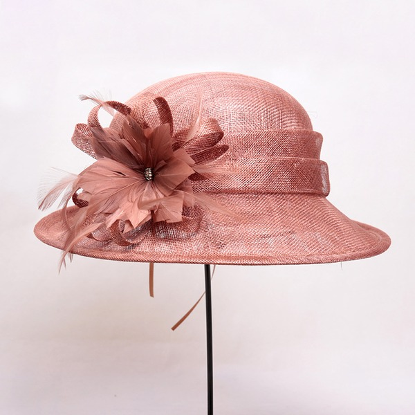 Ladies' Beautiful/Lovely/Glamourous Polyester With Feather Bowler/Cloche Hat
