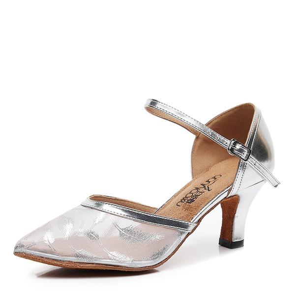 Donna Mesh Tacchi stile moderno Scarpe da ballo