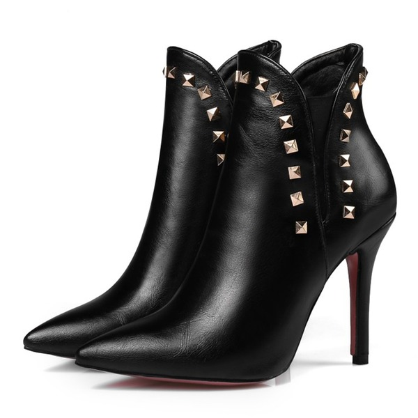 Kadın Suni deri İnce Topuk Bot Ayak bileği Boots ayakkabı