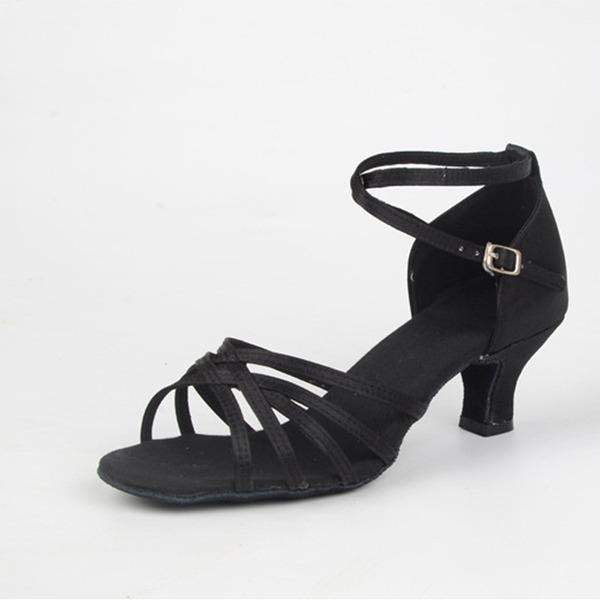 Женщины кожа На каблуках Латино с пряжка Обувь для танцев
