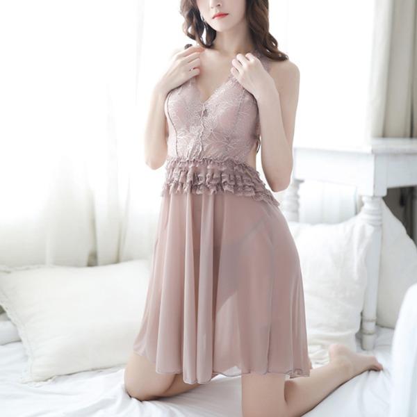 Renda/Tule Clássico Feminino roupa de dormir