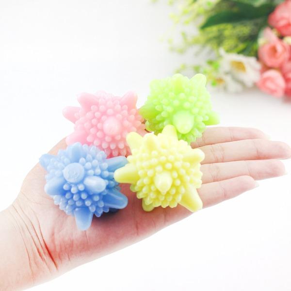 Résine Lavage de boules de boules Bouteilles Garder la lessive Soft Fresh Machine à laver Assèchement de tissu de séchage (Lot de 6) Cadeaux