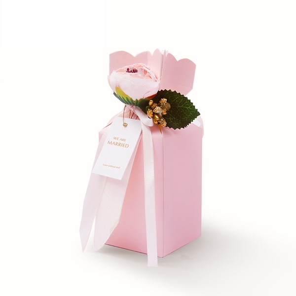 Other Card Paper Favor Boxes With Ribbons (Set of 5)