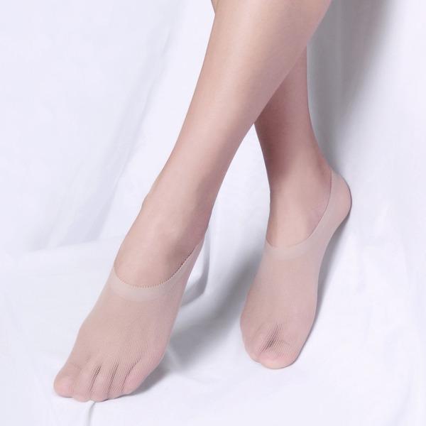 Core Spun Silk No-Show Socks
