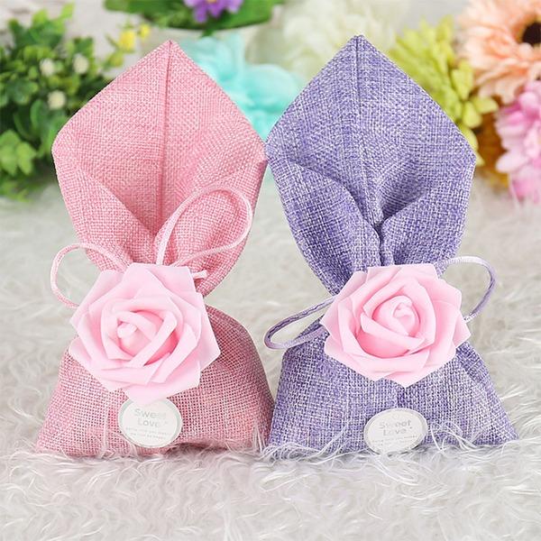 Lovely/Rose Design/Elegant Other Linen Favor Bags (Set of 12)