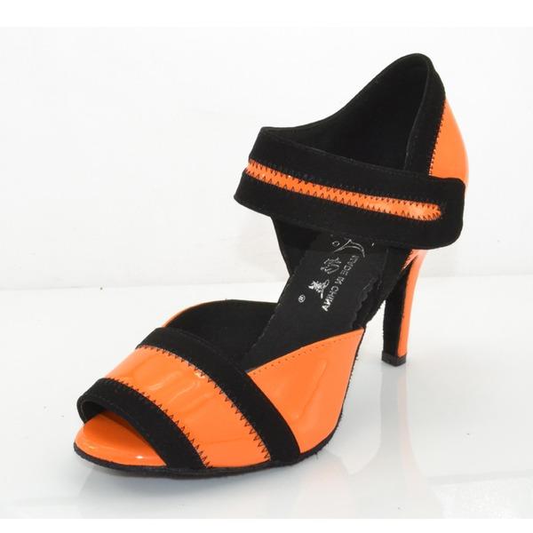 Donna Similpelle Tacchi Sandalo Latino Scarpe da ballo