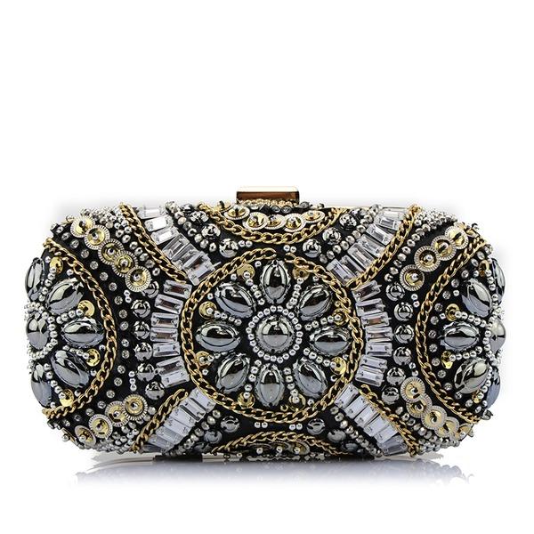 Elegant Perlstickerei Handtaschen/Schminktäschchen