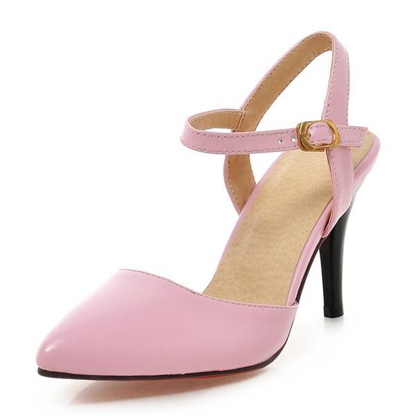 De mujer Cuero Tacón stilettos Sandalias Salón Cerrados con Otros zapatos