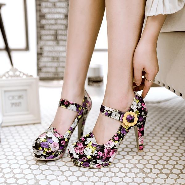 Vrouwen Kunstleer Stiletto Heel Sandalen Pumps Closed Toe met Juwelen Hak Anderen schoenen