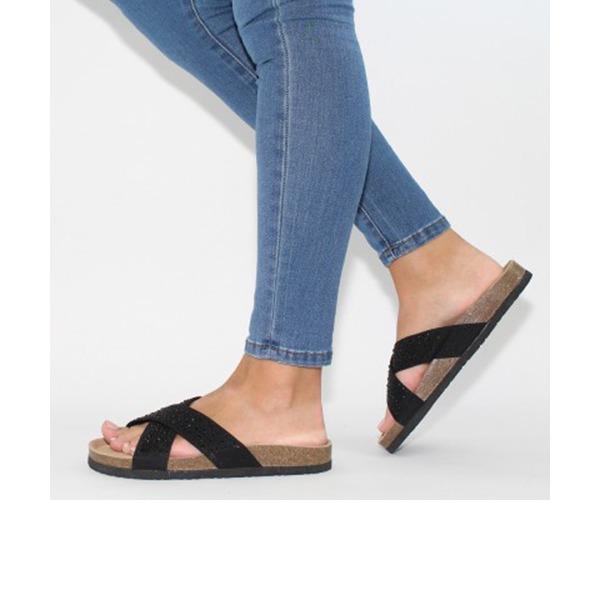 Kvinder PU Stor Hæl sandaler Pumps Kigge Tå Slingbacks sko