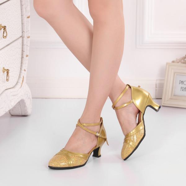 Kvinnor Konstläder Glittrande Glitter Sandaler Bal med Ihåliga ut Dansskor