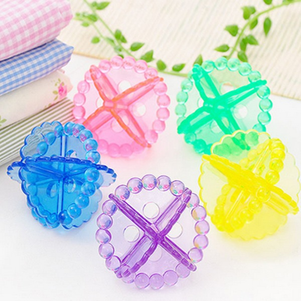 Plástico Bolas de lavagem de bolas de bolas mantendo a lavanderia Máquina de lavar roupa suave Fresco de tecido de secagem (Conjunto de 12) Presentes