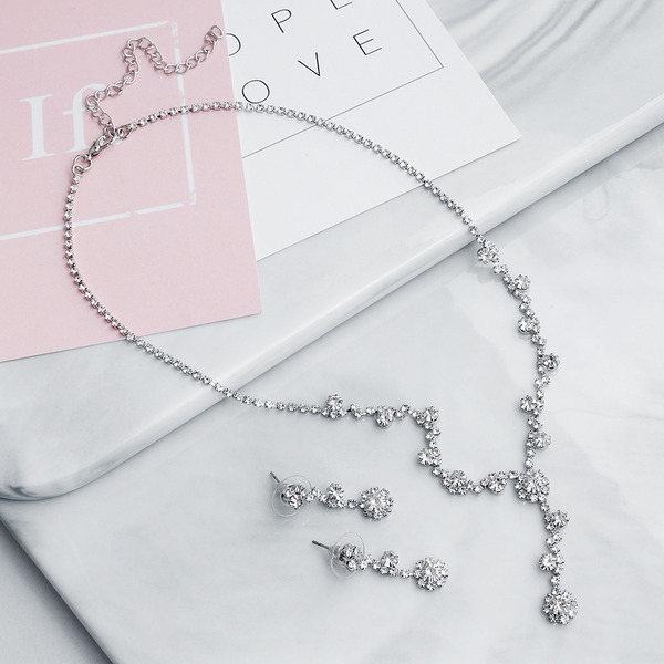 Ladies' Elegant Rhinestones Jewelry Sets For Bride/For Bridesmaid/For Mother/For Friends/For Couple