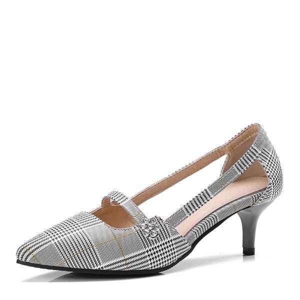 Donna Similpelle Tacco basso Punta chiusa con Cava-out scarpe