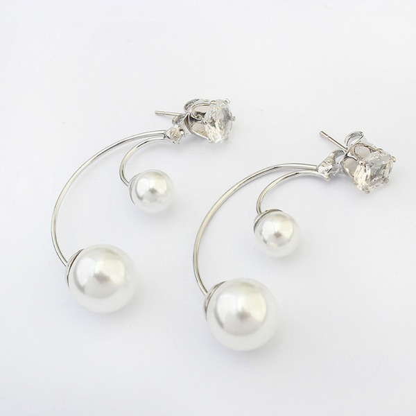 Unique Alloy Imitation Pearls With Imitation Pearl Women's Fashion Earrings (Sold in a single piece)