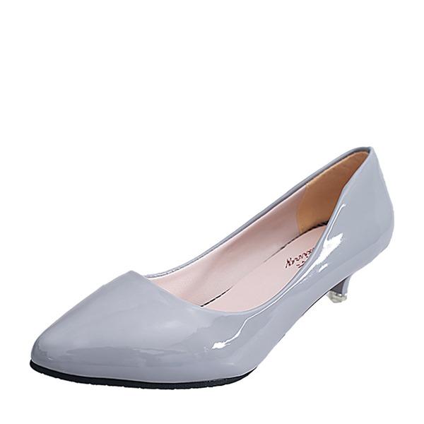 Femmes Similicuir Talon kitten Bout fermé chaussures