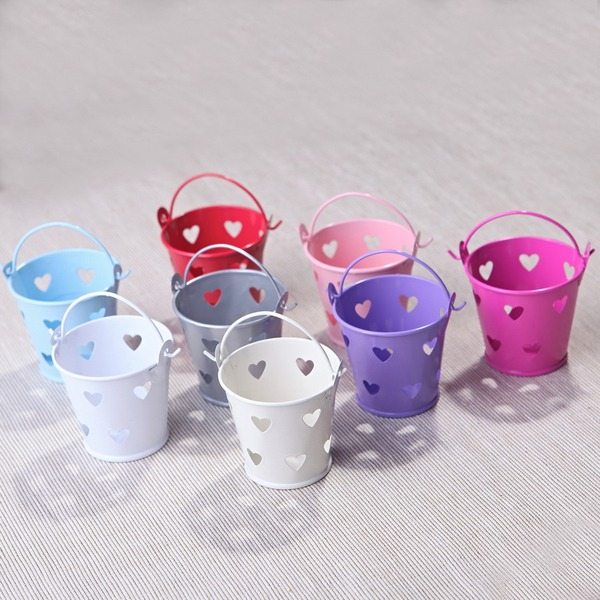 Cylinder Metal Favor Pails (Set of 12)