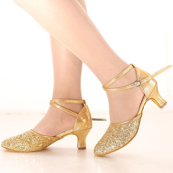 Vrouwen Sprankelende Glitter Hakken Latijn Dansschoenen