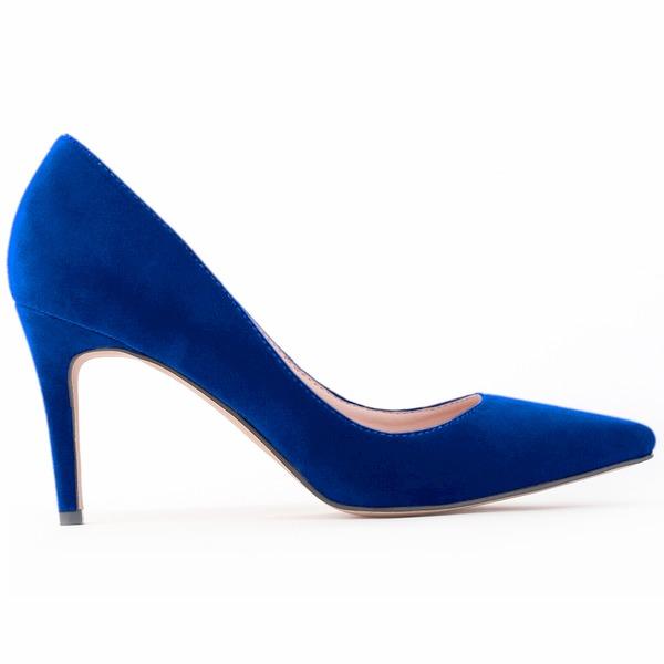 Kvinnor Mocka Stilettklack Pumps Stängt Toe skor
