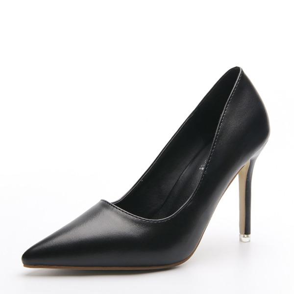 Dámské PU Jehlový podpatek Lodičky Closed Toe obuv