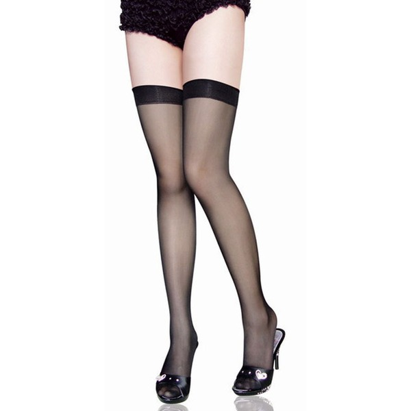 Nylon Chinlon Stay-Up Stockings