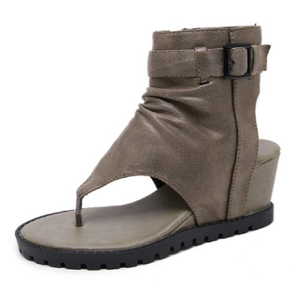 Kvinnor PU Kilklack Sandaler skor