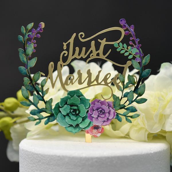 l'amour est doux/que nous faisons Acrylique Décoration pour gâteaux (Vendu dans une seule pièce)