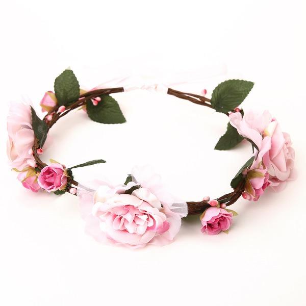 Schön Baumwolle/Rattan Stroh/Band Blumen und Federn