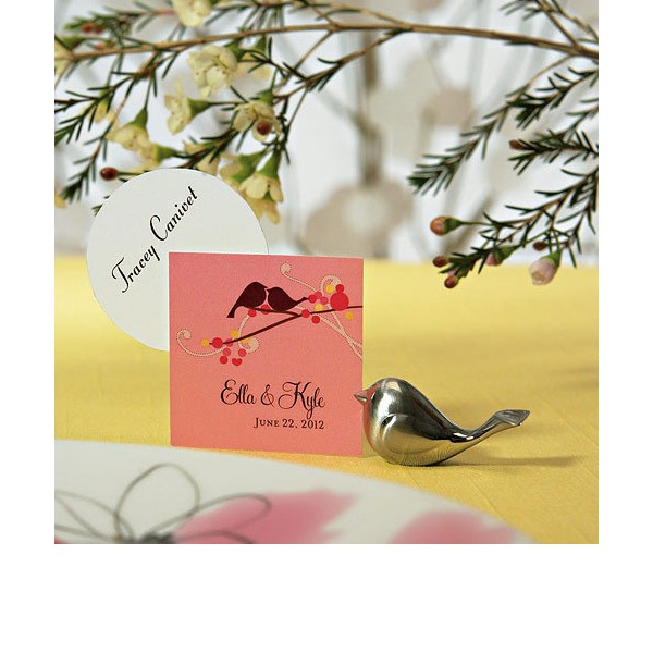 Lovely Birds Stainless Steel Place Card Holders