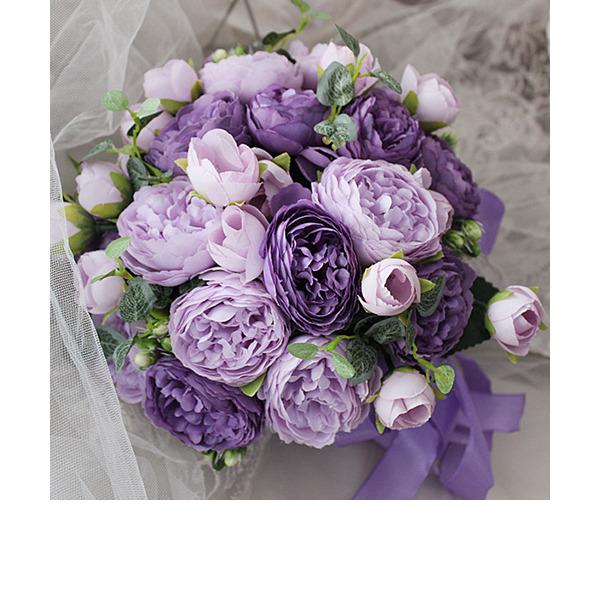 Элегантные Круглый шелковые цветы Свадебные букеты - Свадебные букеты
