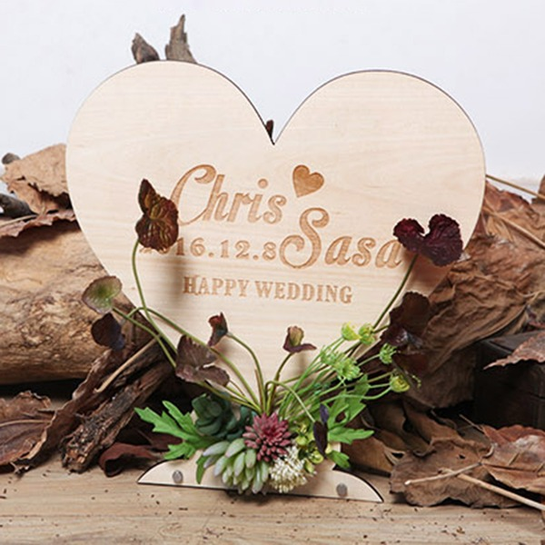 Simple/Love Design Nice Wooden Wedding Sign With Easel
