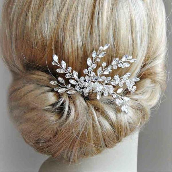 Bella Cristallo/Strass Pettine & clip di capelli (Venduto in un unico pezzo)