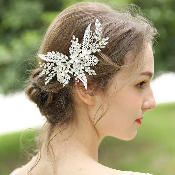 Ladies Beautiful Rhinestone/Alloy Hairpins With Rhinestone (Sold in single piece)