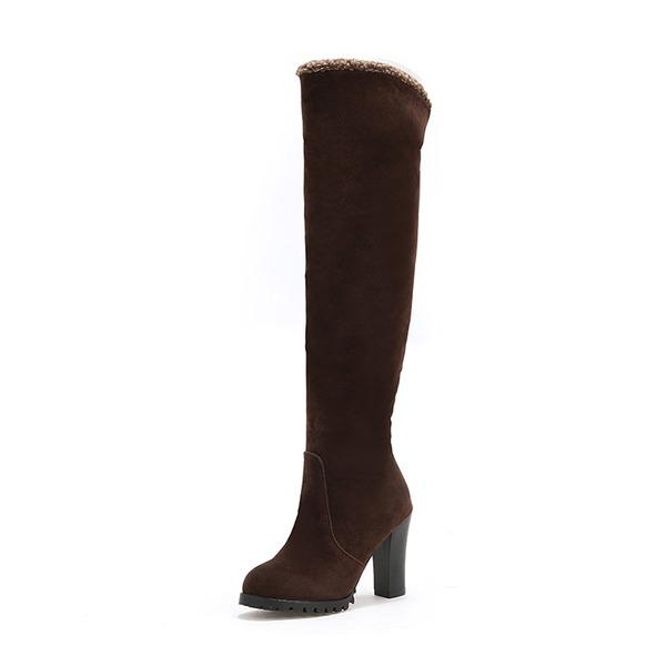Femmes Suède Talon stiletto Bottes avec Autres chaussures