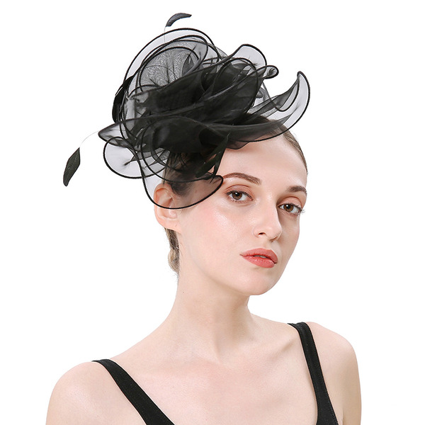Dames Simple/Jolie Organza avec Feather Chapeaux de type fascinator